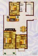 盛世新东城二期3室2厅1卫96平方米户型图