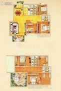 奥体清华苑4室4厅4卫121平方米户型图