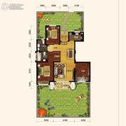 保利海上五月花3室2厅2卫128平方米户型图