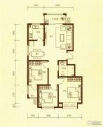 东方太阳城3室2厅1卫100平方米户型图
