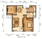 江山花园2室2厅1卫97平方米户型图