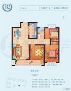 常绿林溪美地3室2厅1卫96平方米户型图
