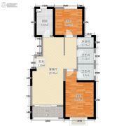 东尚天誉2室2厅2卫72平方米户型图
