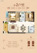 冠华名门国际2室2厅1卫79平方米户型图