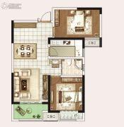 永威城3室2厅1卫83平方米户型图