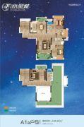 F 、水星城3室2厅2卫189平方米户型图
