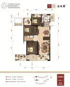 绿谷庄园3室2厅1卫0平方米户型图