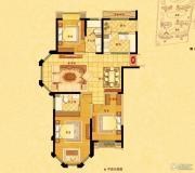 中南世纪花城3室2厅2卫135平方米户型图