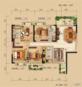 远辰龙湾名郡4室2厅2卫140平方米户型图
