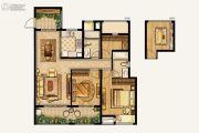 湾上风华3室2厅2卫115平方米户型图