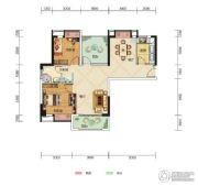 中核・半岛城邦2室2厅1卫99--100平方米户型图