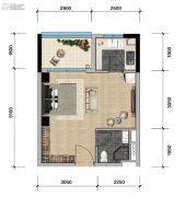 远洋天骄广场1室1厅1卫40平方米户型图