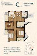 绿城长峙岛银杏园3室2厅1卫107平方米户型图