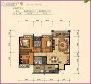 南景湾山水城3室2厅2卫101平方米户型图