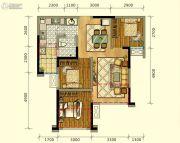 领地海纳时代3室2厅1卫73平方米户型图