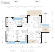 泊富君庭3室2厅2卫100--118平方米户型图