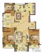香江湾3室2厅2卫156平方米户型图