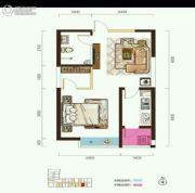 阳光台3651室1厅1卫56平方米户型图
