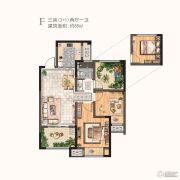 河枫御景3室2厅1卫85平方米户型图