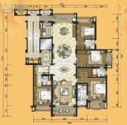 铂雅苑4室2厅4卫265平方米户型图