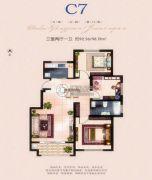 海上明月城3室2厅1卫92--98平方米户型图