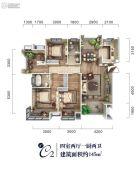 颐馨・湿地・壹�4室2厅2卫145平方米户型图