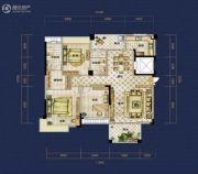 恒泰珑湖3室2厅2卫142平方米户型图