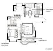 合生国际城2室2厅1卫89平方米户型图