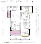 凯景华府3室2厅2卫115平方米户型图