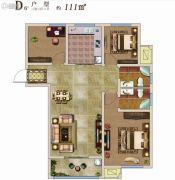 兰亭御城3室2厅2卫111平方米户型图