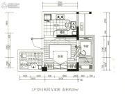 龙江云山墅2室1厅1卫29平方米户型图