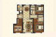 中海寰宇天下3室2厅2卫119平方米户型图