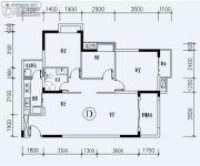 福星城3室2厅1卫106平方米户型图