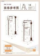 思朗广场2室2厅1卫0平方米户型图