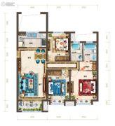 红星・紫御半山3室2厅2卫129平方米户型图