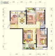 百宏御�Z天下3室2厅3卫0平方米户型图