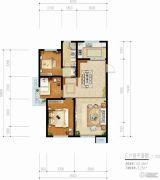 青啤・��悦湾3室2厅1卫102平方米户型图