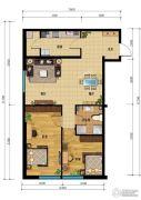汇雄时代2室2厅1卫0平方米户型图