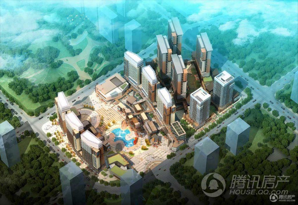 北大资源梦想城白天鸟瞰图