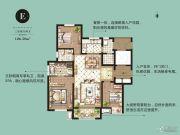 康桥原溪里3室2厅2卫126平方米户型图