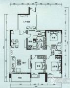 云顶澜山3室2厅2卫128平方米户型图