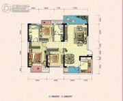 凯富南方鑫城3室2厅2卫108平方米户型图