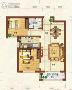 重邦康城2室2厅1卫91平方米户型图