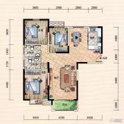 世界城3室2厅2卫133平方米户型图