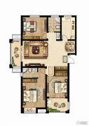 同科・汇丰国际3室2厅2卫135平方米户型图