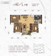 天元・美居乐3室2厅1卫104平方米户型图