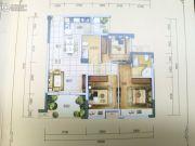 佳兆业君临3室2厅2卫91平方米户型图