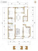 五龙湾・府东天地3室2厅2卫191平方米户型图