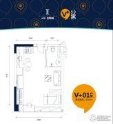 鸿华・I尚城1室1厅1卫35平方米户型图