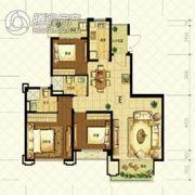 恒大山水城3室2厅2卫115平方米户型图